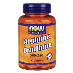 L- Arginine+Ornitine 500/250mg 100 cps