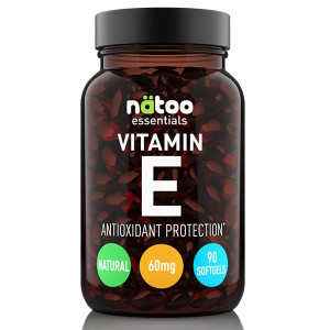 Natoo Essential Vitamin E 60 mg (90IU) 90 softgel